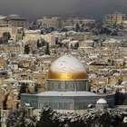 La nieve tiñe de blanco a Jerusalén