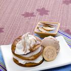 Buñuelos cremosos con helado de vainilla, ¡deliciosos!