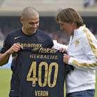 Darío Verón cumple 400 partidos con Pumas