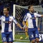 El Espanyol gana al Almería con goles de Stuani y Caicedo