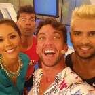 Rafael Cardozo reapareció con Karen Schwarz en canal Latina