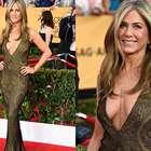 Jennifer Aniston aposta no decotão no tapete vermelho