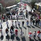 Marcha por Ayotzinapa inicia; bloquean Tlalpan y Reforma
