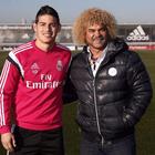 Valderrama visitó por sorpresa a James en Madrid