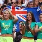 Aficionados ponen espectacular color al Abierto de Australia
