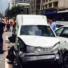 Acidente com 13 veículos bloqueia avenida Paulista