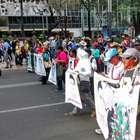 Marcha en DF por Novena Acción Global por Ayotzinapa