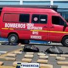 Incautan 615 kilos de drogas en falso camión de bomberos