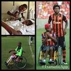 Luiz Adriano detona críticas a irmão cadeirante no Beira-Rio