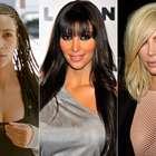 Trança, franja e platinado: veja cabelos de Kim Kardashian