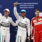 Hamilton supera Vettel na chuva e faz pole; Massa é 7º