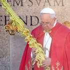El papa Francisco bendice las palmas en el Domingo de Ramos