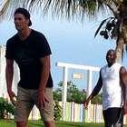Michael Jordan juega basquetbol con Tom Brady