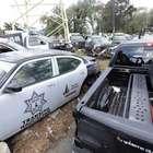 Naucalpan abandona 50 patrullas en plena vía pública