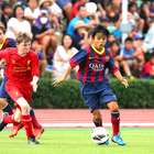 "Proibido de jogar, ""Messi japonês"" deixa o Barça aos 13 anos"