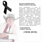 Luto en la cumbia por muerte de Aniceto Molina
