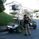 Polícia apreende carrinho de supermercado gigante em SC