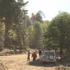 Mapuches trabajan para contener fuego en Araucanía
