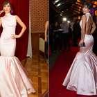 Bad look: Sabrina Sato usa vestido que lembra pedestal