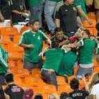 Gran trifulca entre aficionados mexicanos en Kansas City
