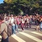 vc repórter: alunos fazem ato de apoio a professores em SP