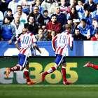 El Málaga - Atlético de Madrid, en imágenes