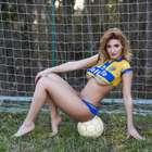 """O Parma é grande! Modelo fica nua para """"salvar"""" time falido"""