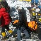 Las terribles imágenes de la avalancha en el Everest