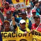 Las mejores imágenes de la marcha de maestros en Bogotá