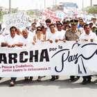 Villa El Salvador: miles marcharon por la paz en el distrito