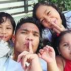 Teo Gutiérrez y sus hijos calientan el Superclásico: la foto