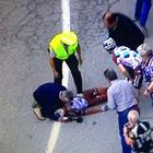 Brutal caída del ciclista Pozzovivo en el Giro de Italia