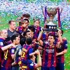 El Barça empata, festeja el título y despide a Xavi