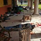 Cuerpos de balacera son trasladados al Semefo de Morelia