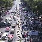 Marchas contra Uber avanzan y afectan tránsito en DF