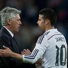 James le dice a Ancelotti 'gracias por todo mister'