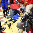 Curry sofre queda assustadora e ofusca sobrevida de Houston