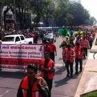 Movilización de antorchistas colapsa Reforma