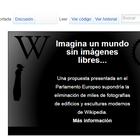 Europa podrían obligar a Wikipedia a bajar miles de imágnes