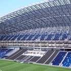 Césped de estadio de Rayados desluce a un mes de su apertura