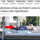 Polémica por fotos del hijo de Fidel Castro en viaje de lujo