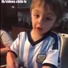 Viral: El niño argentino que apoya a Chile en Copa América