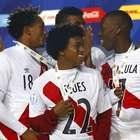 Perú y su festejo como tercero en la Copa América 2015