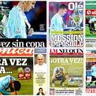 Diarios argentinos muestran la decepción de la Selección