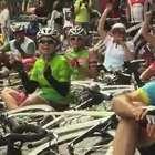 Ciclistas protestam contra a violência no Rio