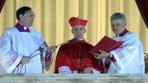 Veja momento histórico em que novo Papa é anunciado