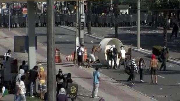 Fortaleza: cenas de guerra antecedem partida da semifinal