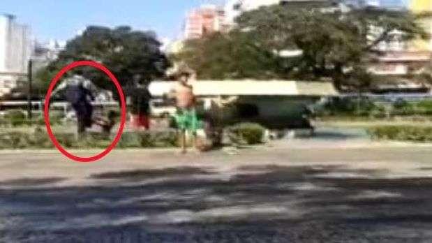 Vídeo mostra guarda municipal chutando rosto de criança em BH