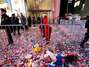 EUA: festa de Ano-Novo na Times Square termina com lixo e confete Foto: Reuters