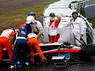 Veja fotos do grave acidente de Jules Bianchi no GP do Japão